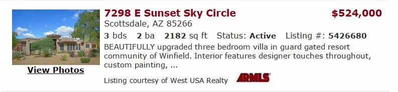 7298 E sunset sky circle