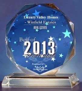 2013 Best of Scottsdale Award - Luxury Valley Homes Winfield Estates